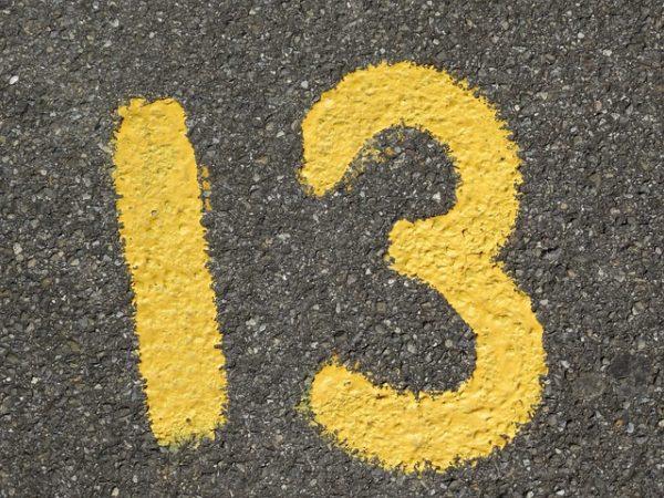 Triskaïdékaphobie- Peur du chiffre 13 ou d'être 13 à table